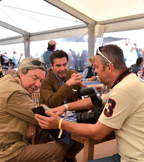 Chefredakteur Sylter Rundschau Michael Stitz, Verleger Frank Rosemann, Promi-Fotograf Georg Stupanz