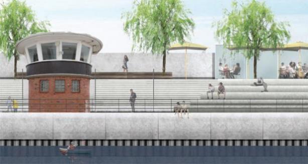 So könnte der Wedeler Stadthafen künftig aussehen