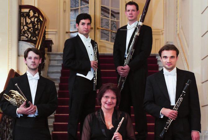 Das Bläserquintett Musique à Vent spielt im Jenisch Haus