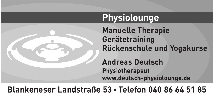 Andreas Deutsch - Physiolounge