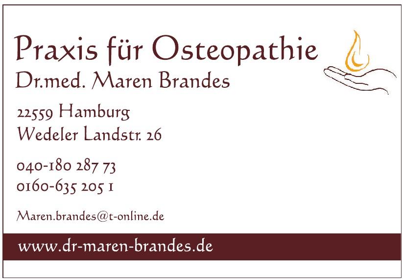 Praxis für Osteopathie, Dr. med. Maren Brandes