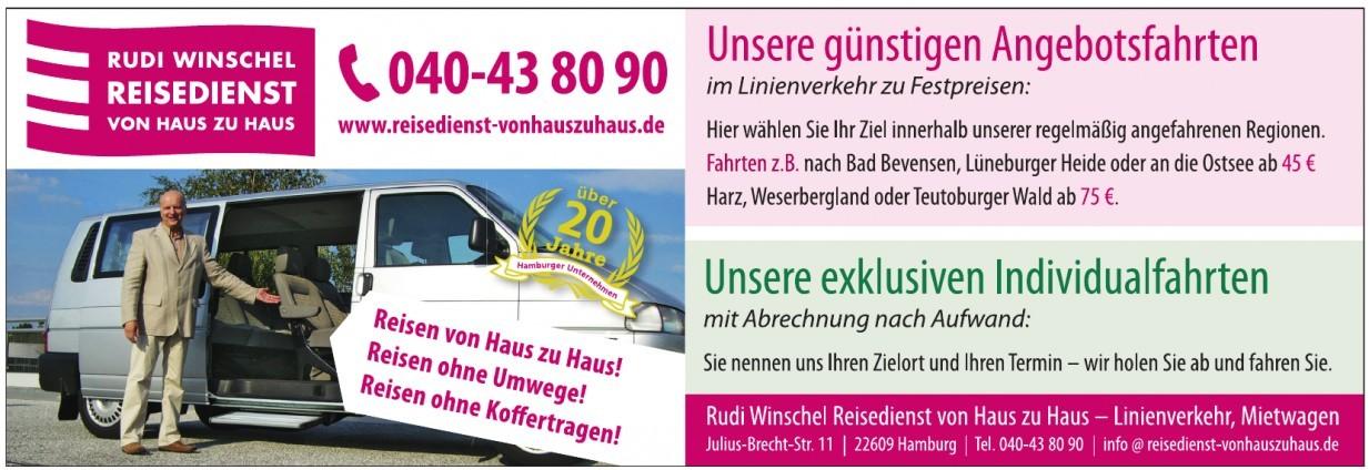 Rudi Winschel, Reisedienst von Haus zu Haus