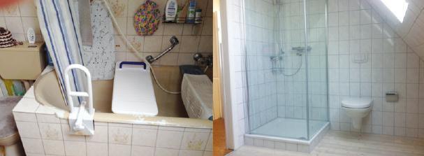 Badezimmer vorher und nachher