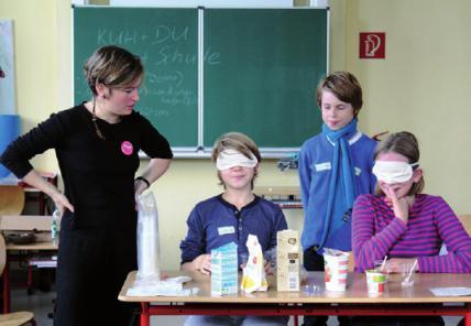 Milchverkostung in der Schule
