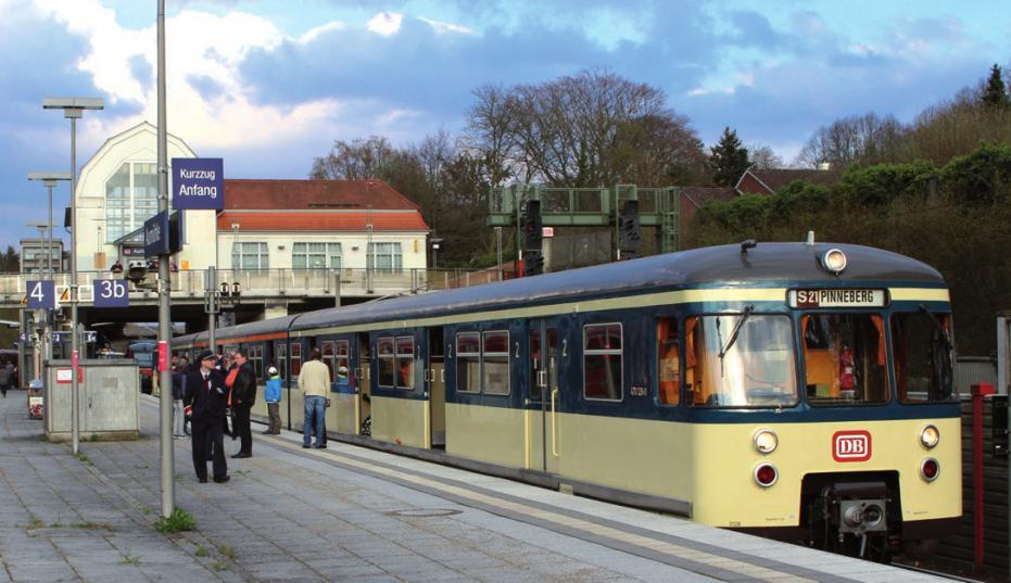 Der historische S-Bahn-Zug wurde 1969 gebaut