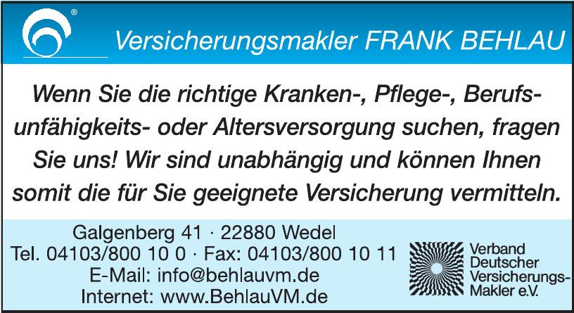 Versicherungsmakler Frank Behlau