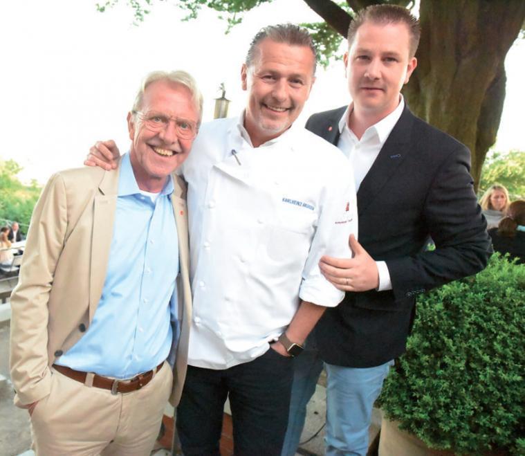 Sponsoren Hans-Otto Kattenberg (Haspa), Karlheinz Hauser, Christian Dunger von WDI-AG