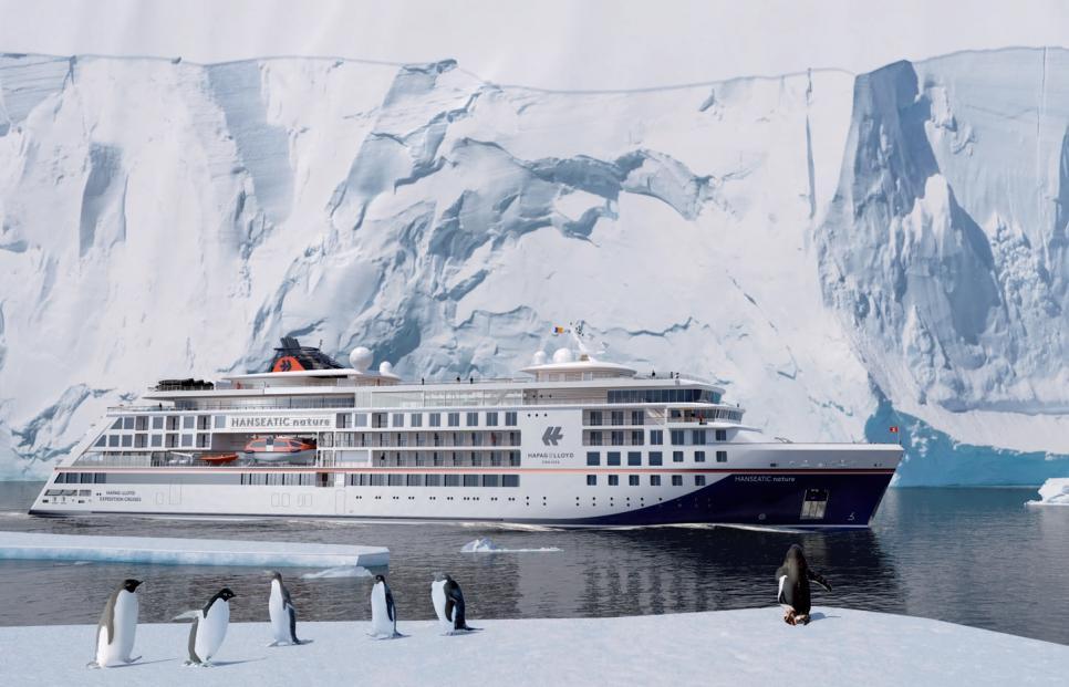 Die beiden neuen Expeditionsschiffe von Hapag-Lloyd Cruises legen im kommenden Jahr zur ersten Reise ab.FOTO: HL-CRUISES