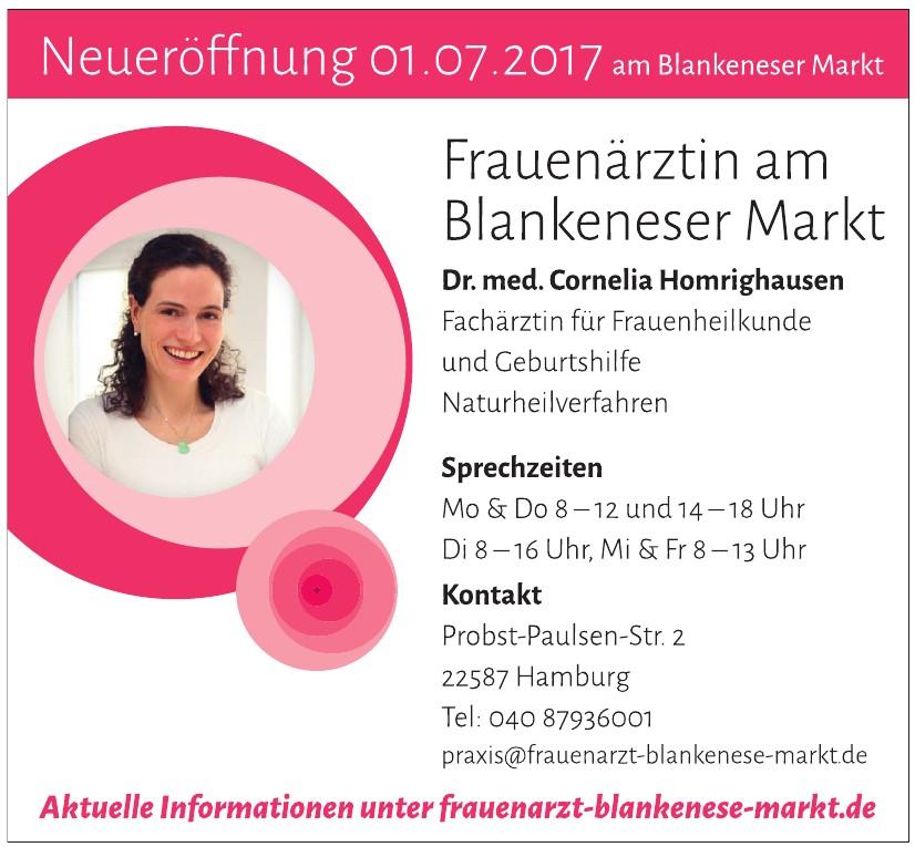 Frauenärztin am Blankeneser Markt, Dr. med. Cornelia Homrighausen