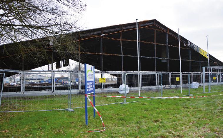 Der Abriss des ehemaligen Racketcenters hat bereits begonnen