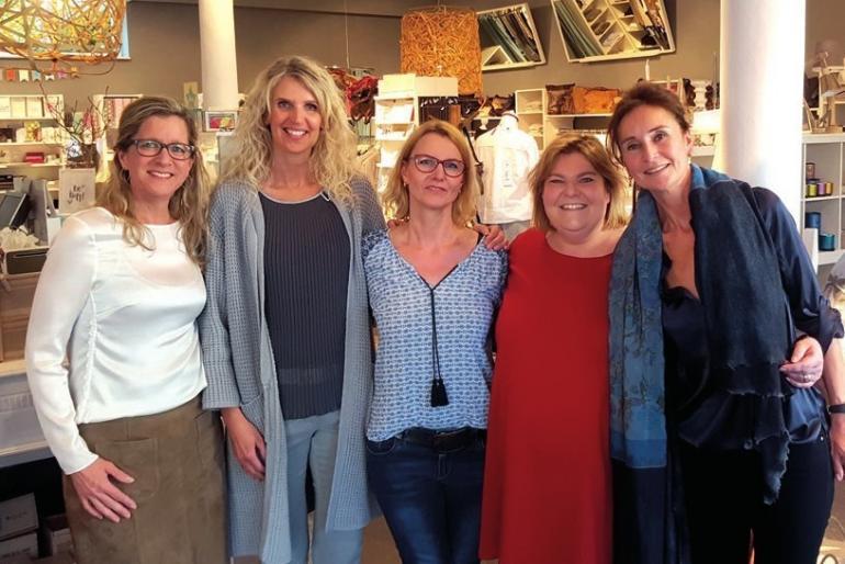 Svea Feldstein, Susanne Jung, Nicola Schaarschmidt, Eiken Feldstein und Katrin Quadflieg