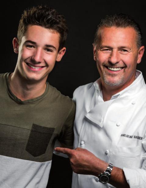 Karlheinz Hauser mit Sohn