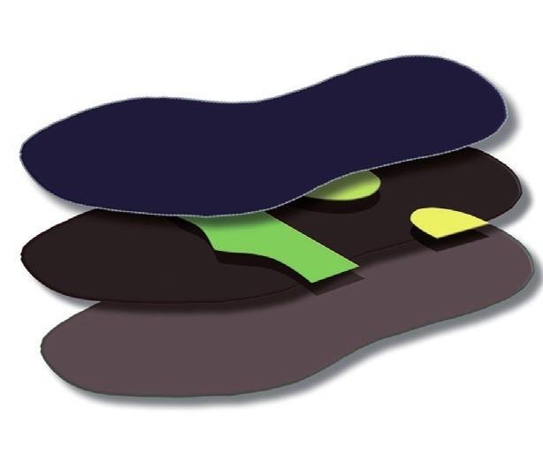 Grafik: Eine faszienregulierende Podosohle für einen ausbalancierten Körper