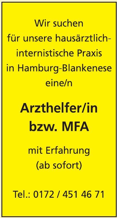 Arzthelfer/in bzw. MFA