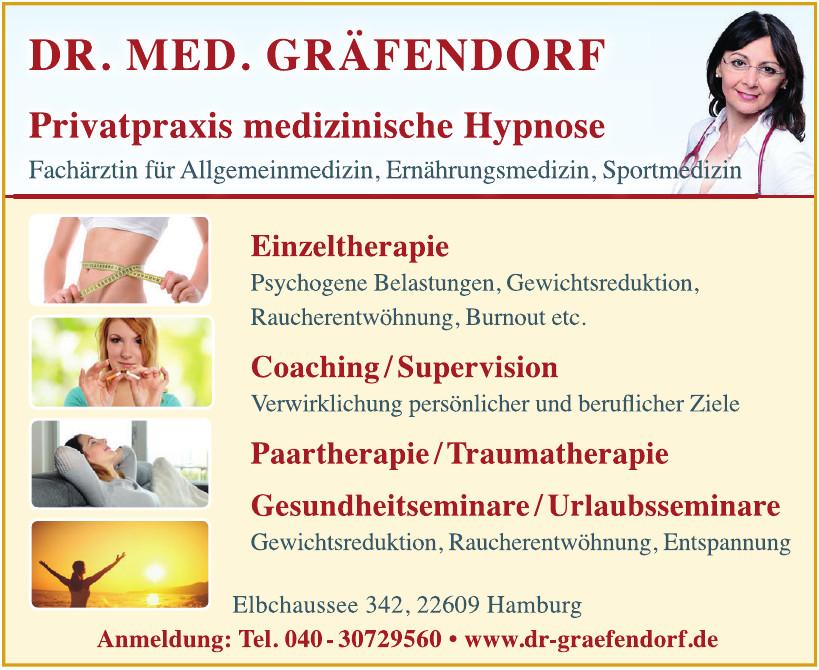 Dr. med. Gräfendorf, Privatpraxis medizinische Hypnose