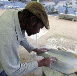 Celestino Muhavhi bei der Arbeit