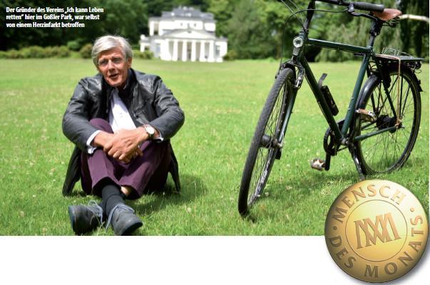 """Der Gründer des Vereins """"Ich kann Leben retten"""" hier im Goßler Park, war selbst von einem Herzinfarkt betroffen"""