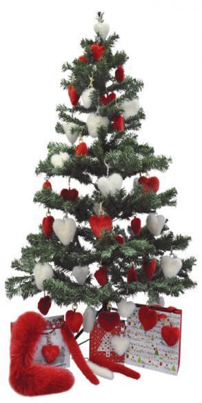 Schöne Geschenkideen aus Fell in Rot und Weiß