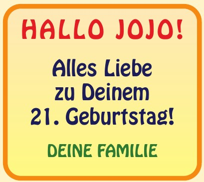 Hallo JOJO!