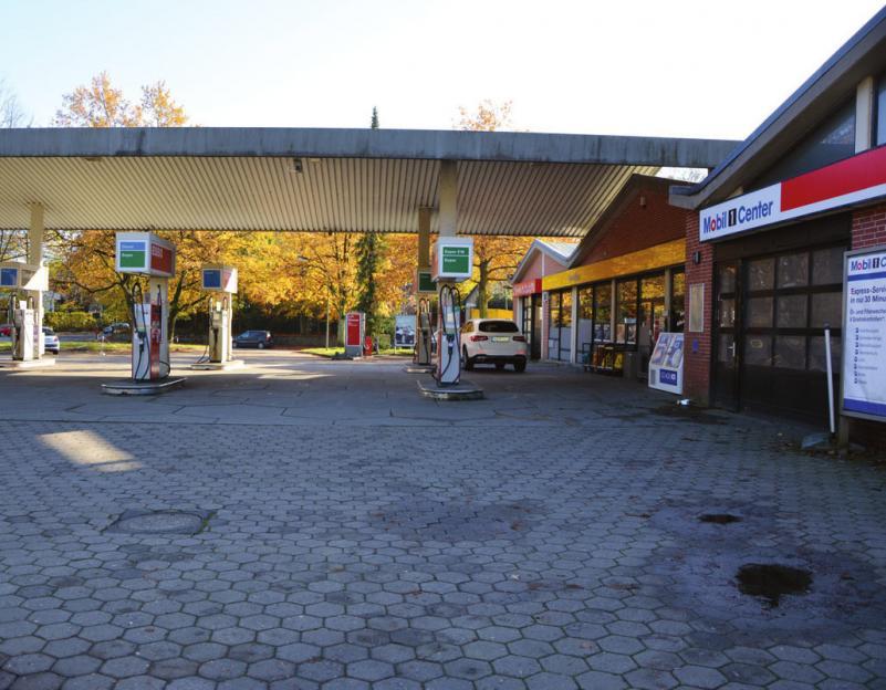 Die Esso-Tankstelle an der Elbchaussee