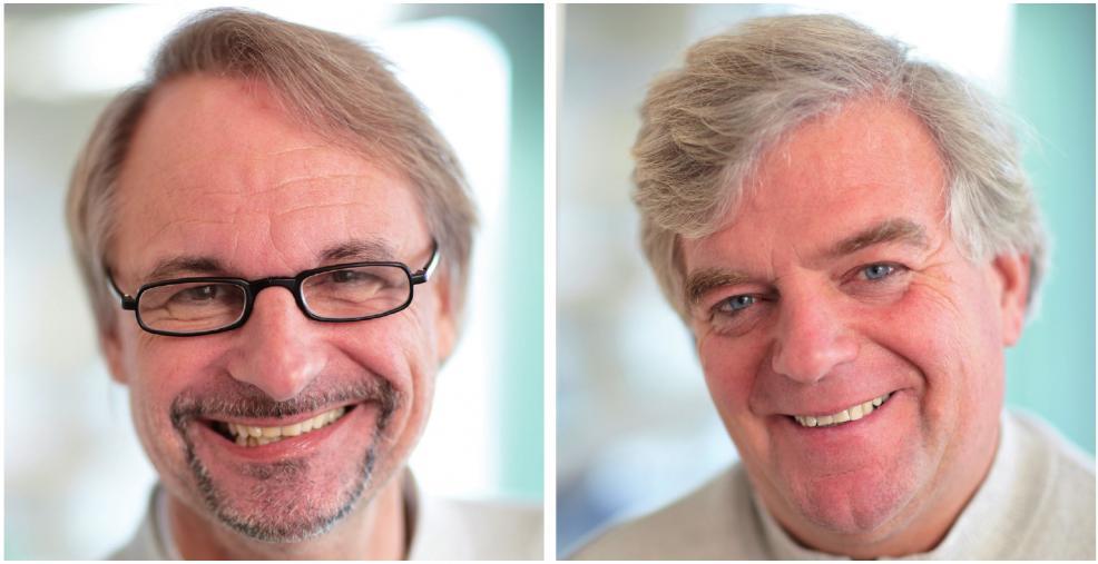 Fundiertes Doppel: Dr. med. Andreas Zander (links) und Dr. med. Hans-Ulrich Packheiser helfen bei allen Schwierigkeiten mit Zähnen und Zahnfleisch FOTOS (2): N.IKI ZANDER