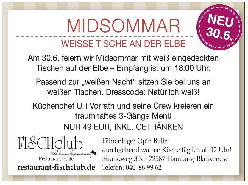 Restaurant FISCHclub Blankenese