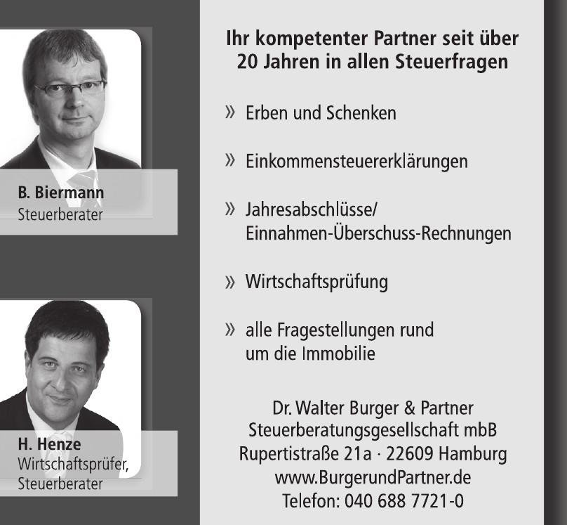 Dr. Walter Burger & Partner Steuerberatungsgesellschaft mbB