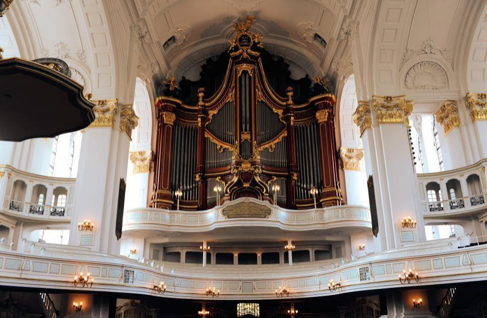 """Die Orgel in der Kirche Sankt Michaelis (""""Michel"""") FOTO: M.SCHWARTZ"""