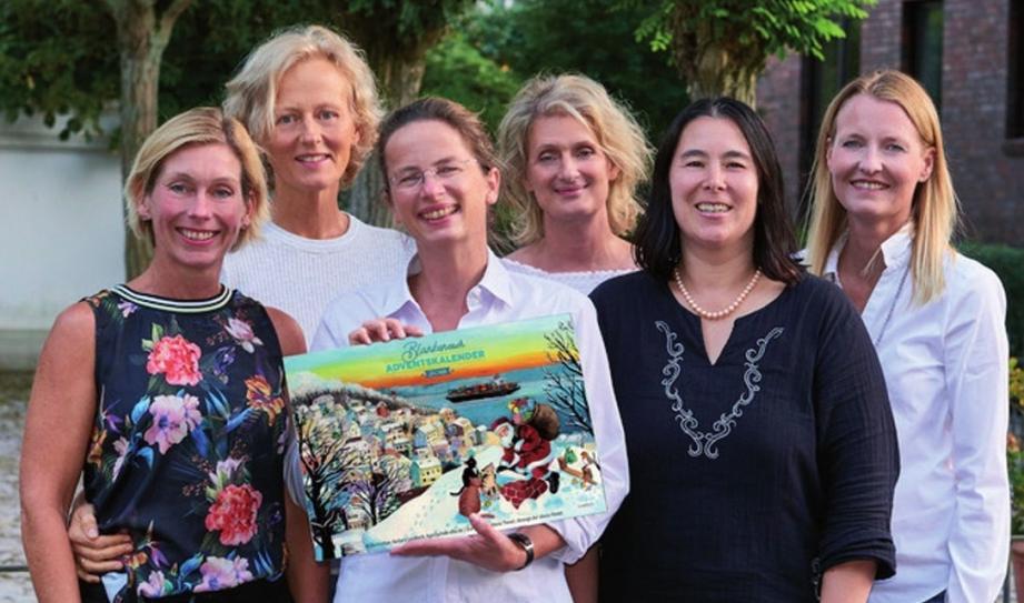 Sabine Froebel, Christa Sindemann, Sigrid Marcks, Jasmin Senckel-Vollmer, Jennifer Berendt und Katja Bielenberg vom Kalender-Team