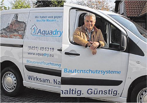 Klaus Wist hilft bei nassen Kellern,feuchten Mauern oder zerstörtem Putz