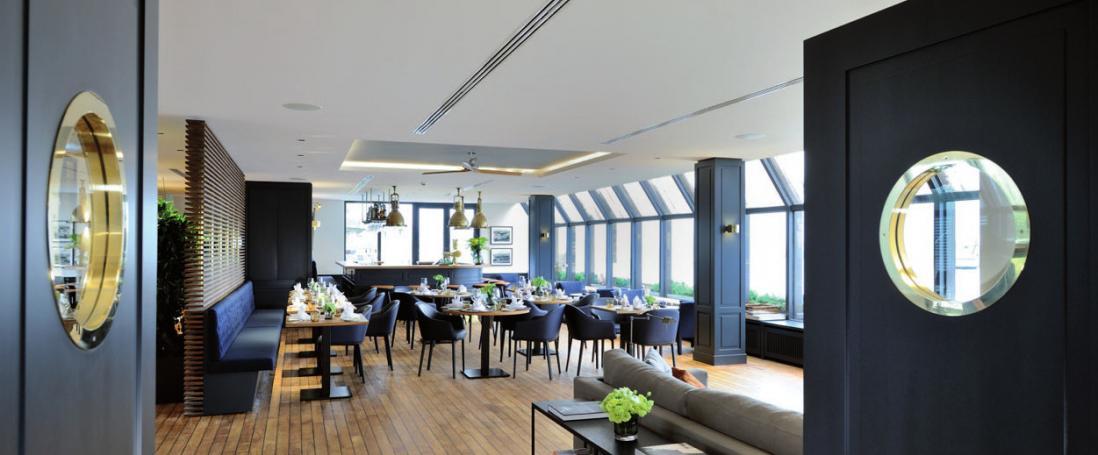 Blick in den modernisierten Hafen-Klub Hamburg