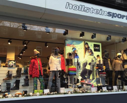Bei Hollstein Sport gibt's Sportliches und Modisches von klassisch bis modern
