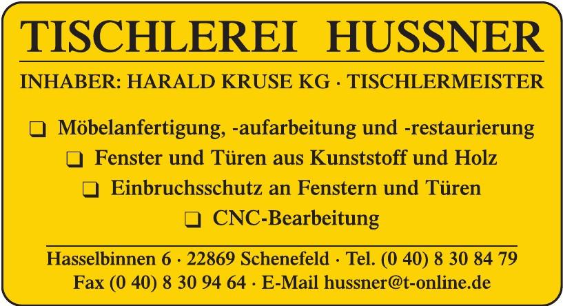 Tischlerei Johannes Hussner Inh. Harald Kruse