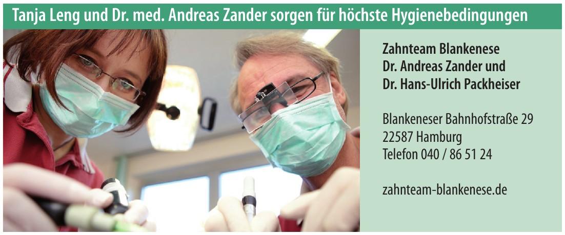 Zahnteam Blankenese Dr. Andreas Zander und Dr. Hans-Ulrich Packheiser