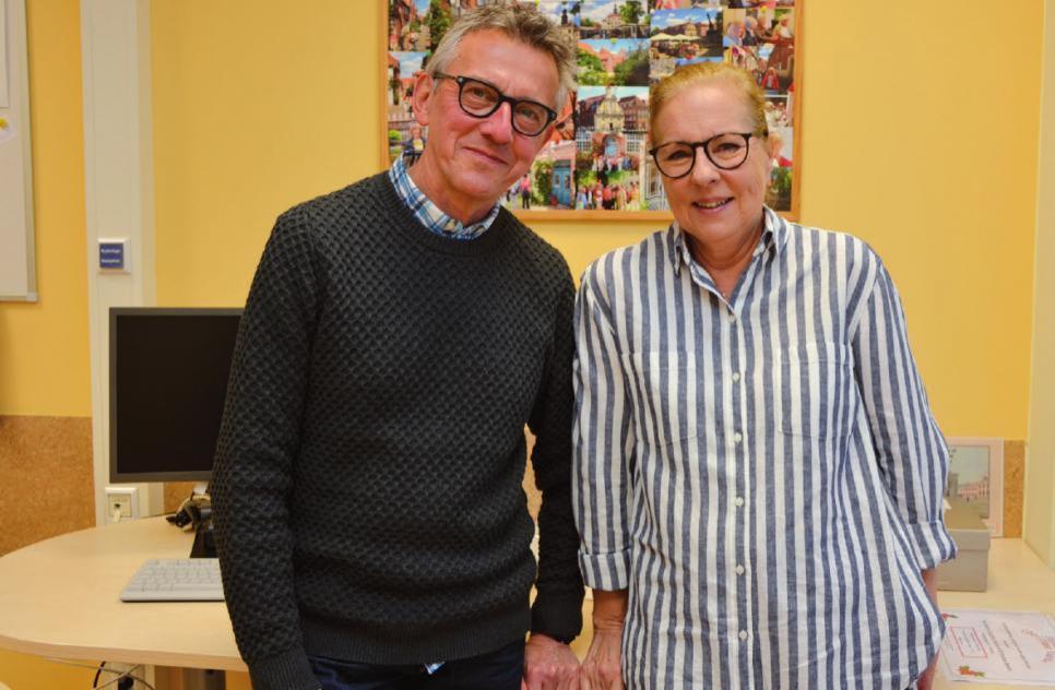 Peter Schmidt und Sonja Stangier engagieren sich ehrenamtlich in der Asklepios Klinik Altona