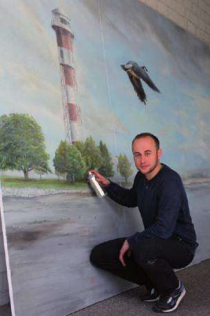 Graffitikünstler Johann Lucht aus Wedel