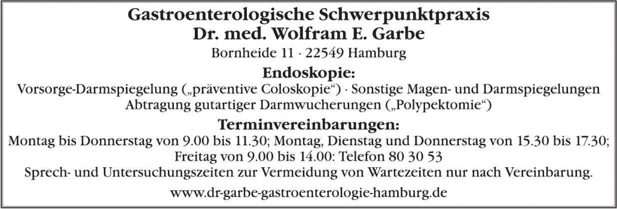 Gastroenterologischen Schwerpunktpraxis Dr. med. W. E. Garbe