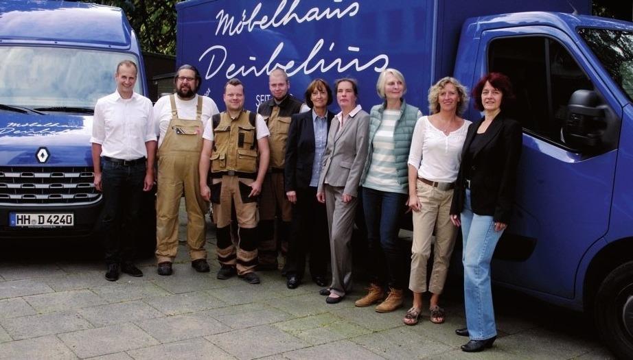 Das Team vom Möbelhaus Deubelius freut sich auf Sie