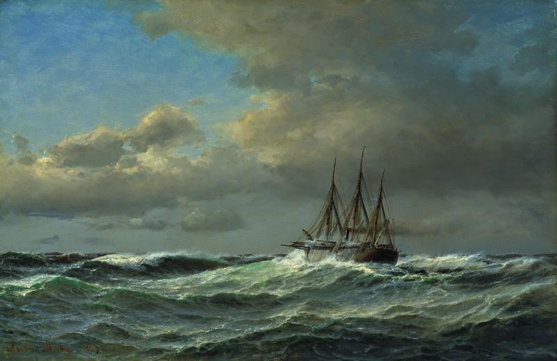 Französischer Dampfer auf Leinwand, 1867 FOTO: ELKE WALFORD