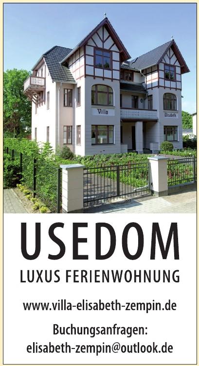 Usedom Luxus Ferienwohnung
