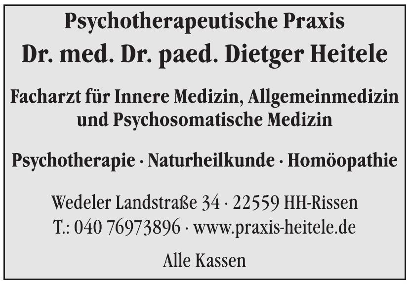 Psychotherapeutisch Natruheilkundliche Praxis Dr. med Dr. paed. Dietger Heitele