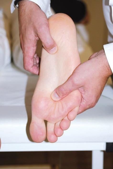 Die Einlagen werden stets ganz individuell dem Fuß und dem Schuhwerk angepasst