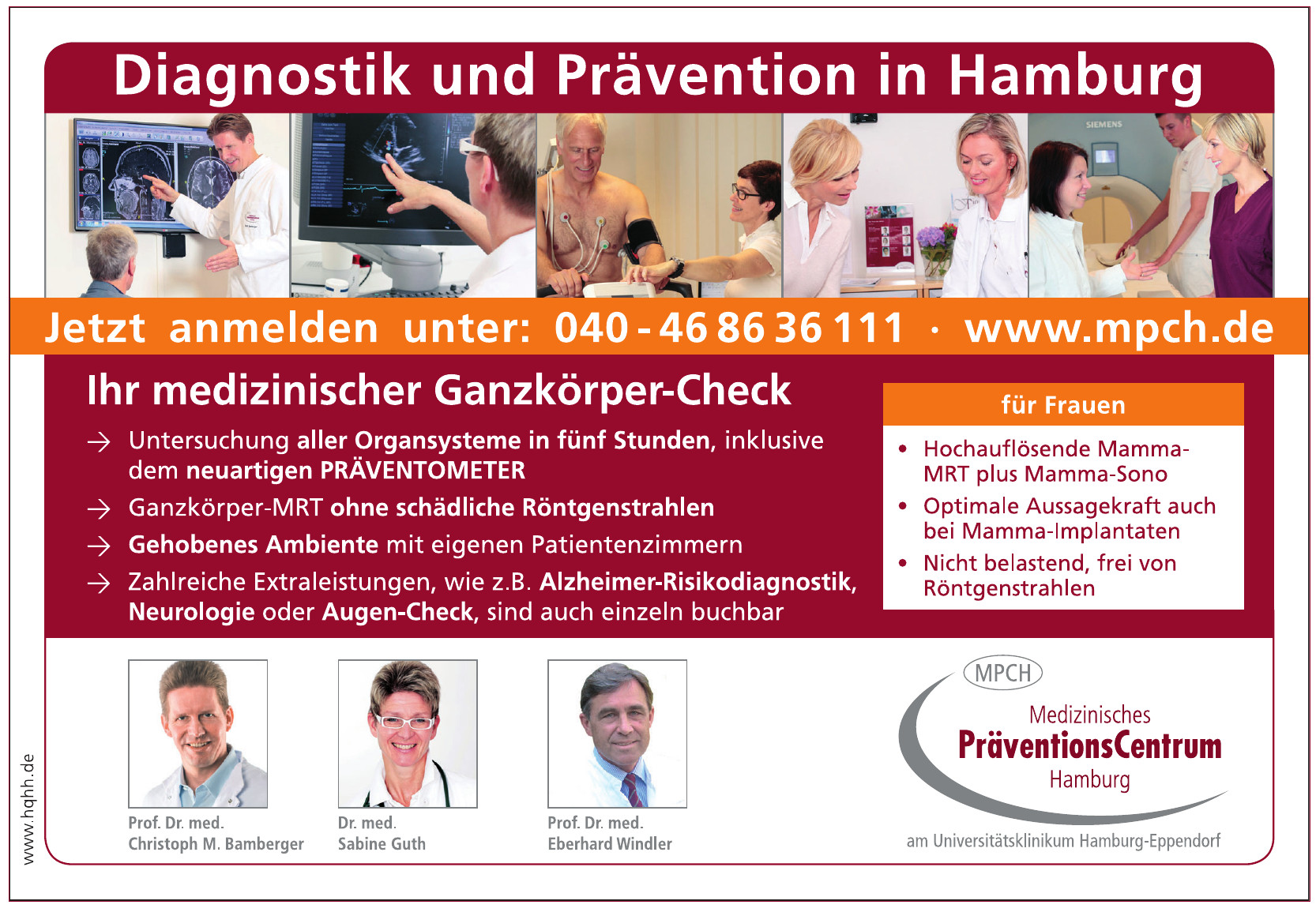 Diagnostik und Prävention in Hamburg