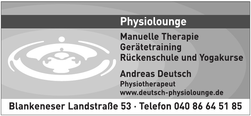 Andreas Deutsch, Physiotherapeut