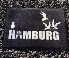 Fußmatte im Hamburg-Look