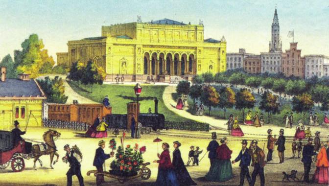 Die Kunsthalle in einer historischen Darstellung
