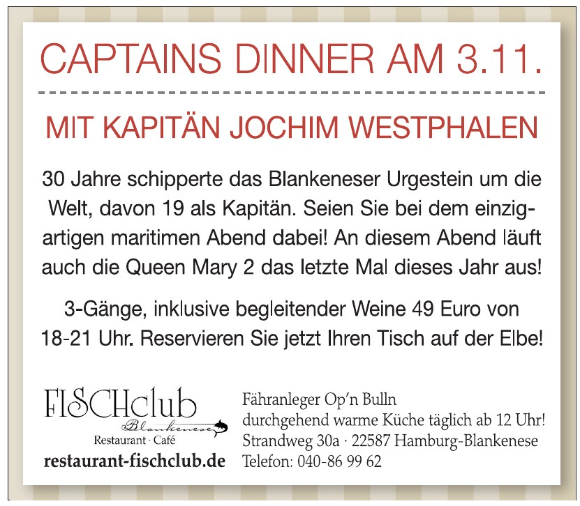 Fisch Club - Restaurant - Café