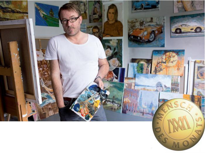 Porträts, Landschaften, Stillleben, Städte – der Künstler in seinem Atelier in Wilhelmsburg, FOTO: DOROTA SLIWONIK