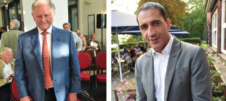 Ex-Innensenator Alfons Pawelczyk (rechts), Otto-Schwiegersohn Ismail Özen auf der Vernissage von Christl Otto