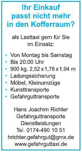 Gefahrguttransporte - Hans Joachim Richter